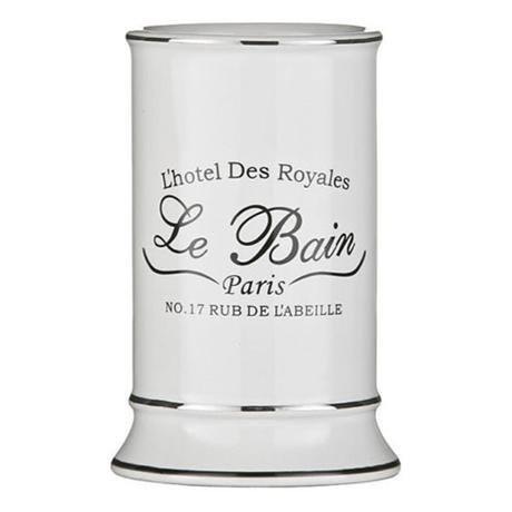 Le Bain White Ceramic Tumbler - 1601337