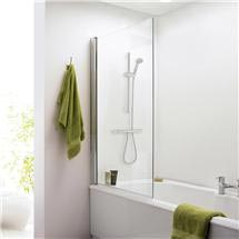1400 Hinged Square Bath Screen - NSSQ Medium Image