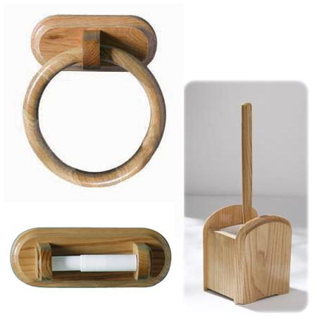 Good 3 Piece Natural Oak Wooden Bathroom Set   3PC OAK SET