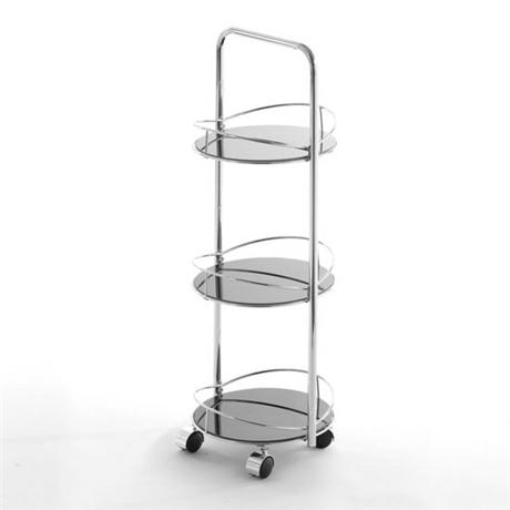 3 tier round black glass bathroom trolley at victorian for Chatsworth bathroom faucet parts