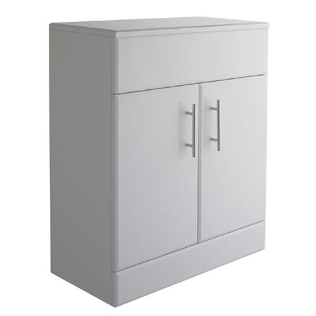 bath cabinets alaska high gloss white vanity cabinet only w620 x d300mm 10970