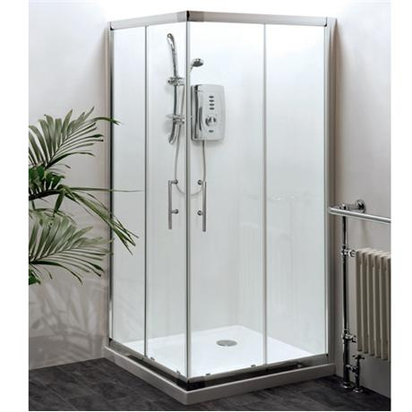 Aegean Corner Entry Square Shower Enclosure (Inc. Shower Tray + Waste)