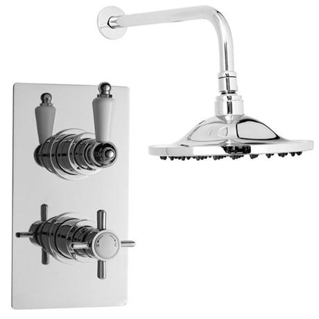 Ultra beaumont twin concealed thermostatic valve w 8 for Chatsworth bathroom faucet parts
