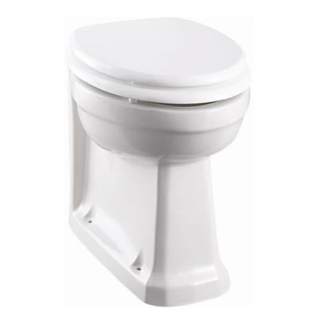 Burlington Back to Wall Pan with Gloss White Seat