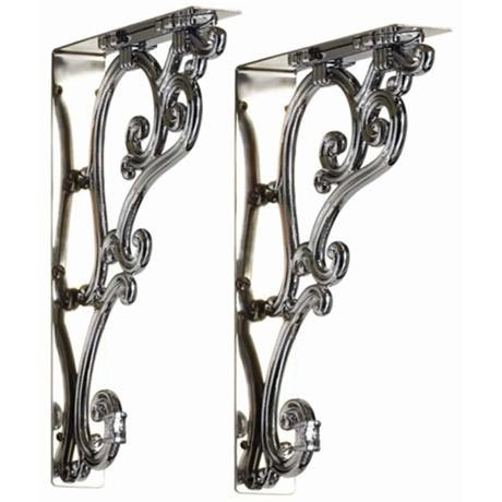 Burlington Chrome Ornate Medium Brackets - T32CHR