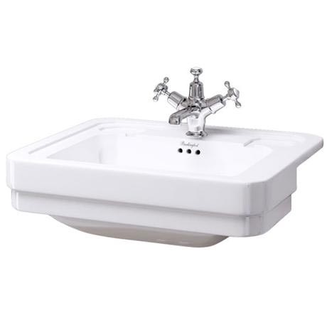 Burlington Classic Semi Recessed 58cm Basin - B12
