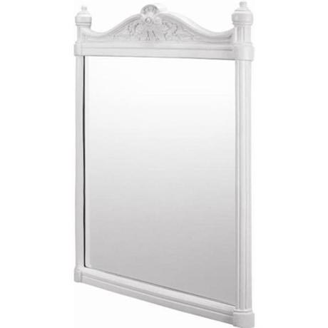 Burlington Georgian Mirror with White Aluminium Frame - T42WHI