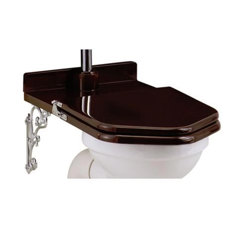 Burlington Throne Seat for High Level Toilet - Mahogany Seat - S15