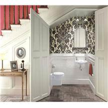 Burlington Traditional Wall Hung Cloakroom Suite Medium Image