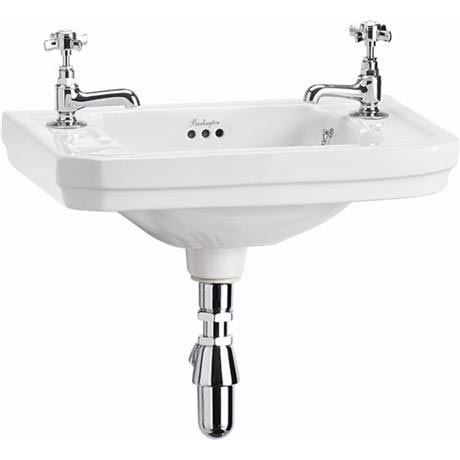 Burlington Victorian Wall Mounted 2TH Cloakroom Basin - B9