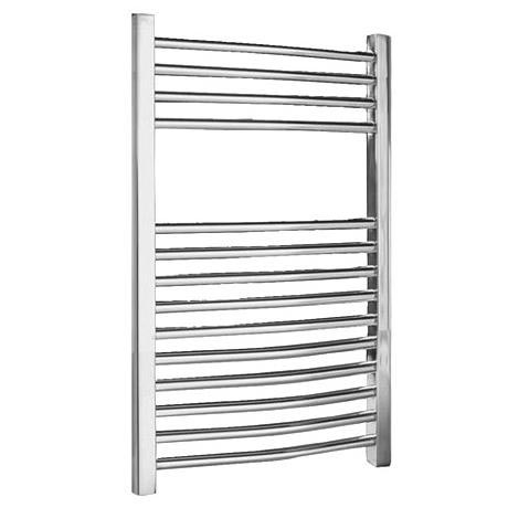 Chrome Curved Ladder Heated Towel Rail 500 x 700mm - MTY066
