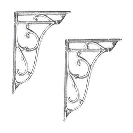 Ultra Ornate Cistern Brackets - Chrome - FA322
