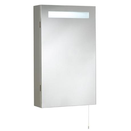 Ultra Consul Stainless Steel Bathroom Cabinet with Single Door & Light - LQ333