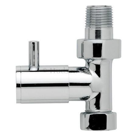 Hudson Reed Minimalist Chrome Radiator Valves - Straight - HT320
