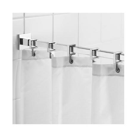 Croydex Contemporary Luxury Chrome Square Shower Curtain Rod - AD116441