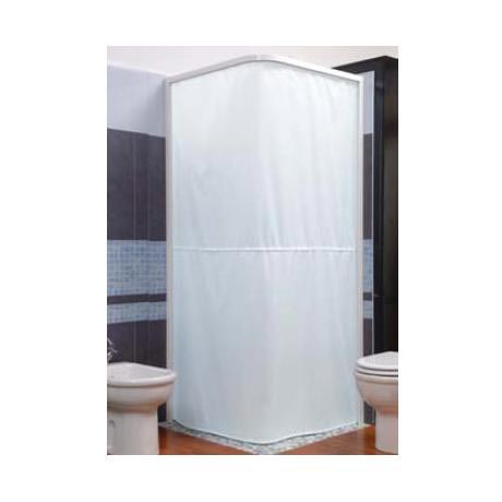 Marvelous Croydex Magnetic Hemmed L Shaped And Wall Profile Shower Curtain Rail    White