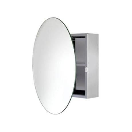 Croydex Severn Circular Door Mirror Cabinet - Stainless Steel - WC836005