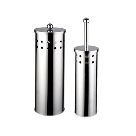 Croydex stainless steel toilet brush and toilet roll for Storage for toilet rolls