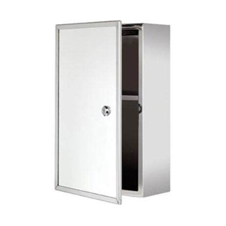 Croydex Trent Lockable Medicine Cabinet - Stainless Steel - WC846005