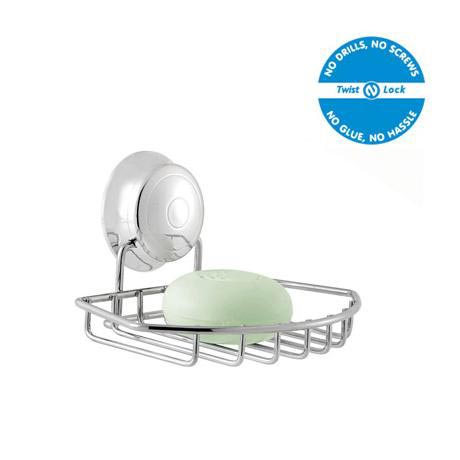 Croydex Twist N Lock Soap Dish - Chrome - QM341941