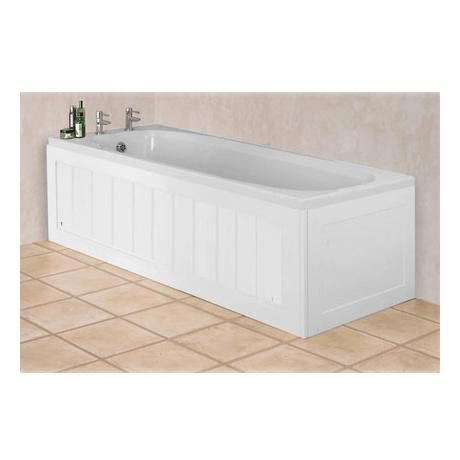 Croydex unfold 39 n 39 fit white wood bath panel with lockable for Storage bath panel