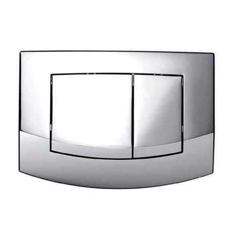 Dual Flush Chrome Push Button Plate - 9.240.226