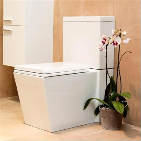 square toilet seat uk. Durab Milan Square Two Piece Toilet Pan with Soft Close Seat  TLT MIL