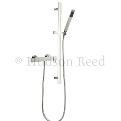 Hudson Reed Quadro Thermostatic Bar Valve with Sheer Slide Rail Kit - Chrome