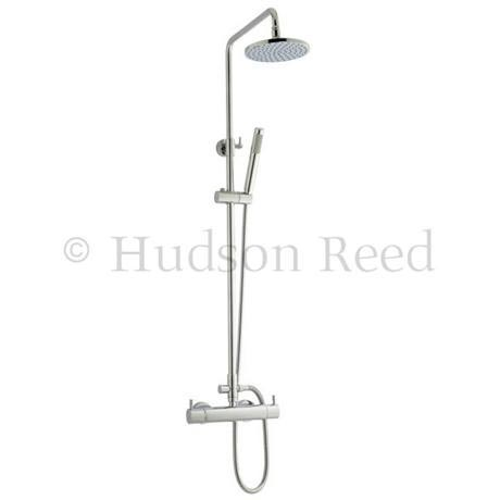 Hudson Reed Thermostatic Bar Valve with Pro I Telescopic Shower Kit - Chrome