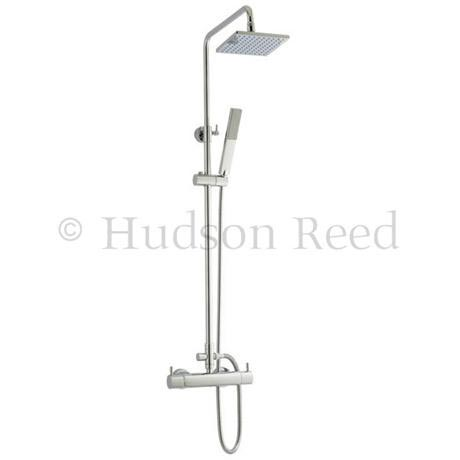 Hudson Reed Thermostatic Bar Valve with Pro II Telescopic Shower Kit - Chrome