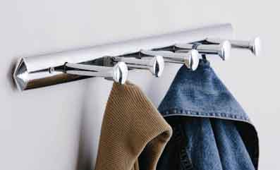 5 Hook Chrome Wall Hanger - 1600969 Large Image