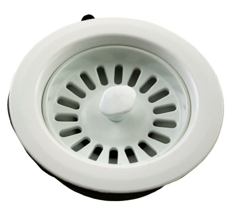 "1.5"" Basket Strainer Sink Waste - White - 82075180 profile large image view 1"