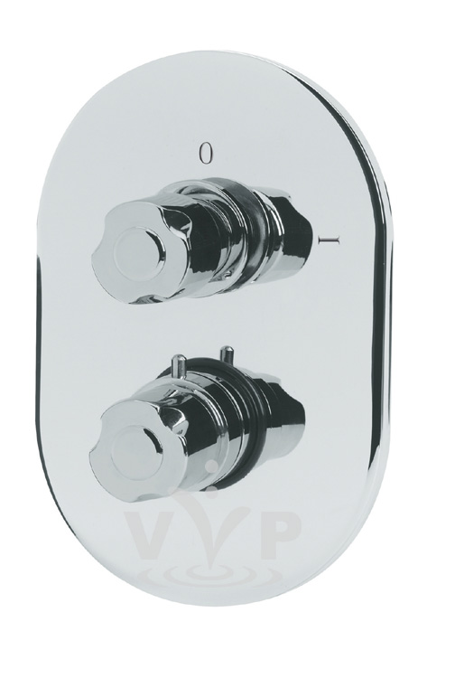 Exact Twin Thermostatic Shower Valve profile large image view 1