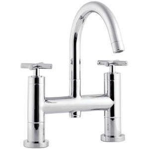 Minimalist Helix cross head Bath Filler with small swivel spout Large Image