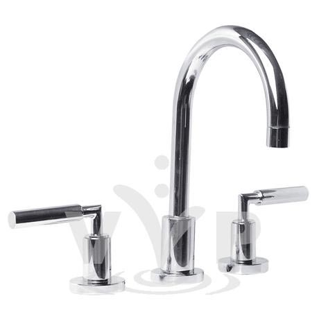Minimalist Helix lever 3 Tap Hole Deck Mounted Basin Mixer - PK307