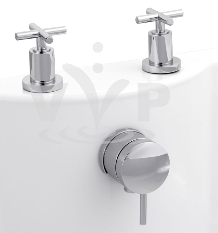 Minimalist Helix cross head Freeflow Bath Filler Large Image