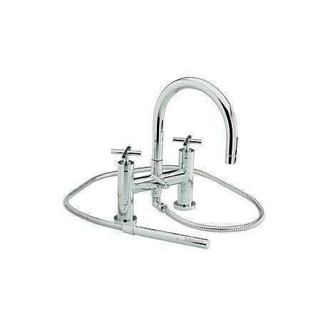 Minimalist Horizon Bath shower mixer with large swivel spout