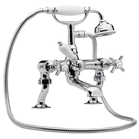 Ultra Luxury Beaumont 3/4 Inch Cranked Bath Shower Mixer - Chrome - I303X