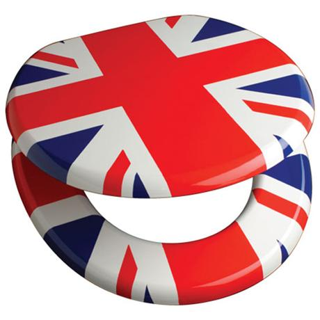 Buy Online MDF Printed Union Jack Design Toilet Seat Stylish MDF Printed Uni
