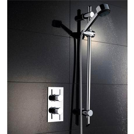 Pioneer Twin Concealed Thermostatic Shower Valve with Slide Rail Kit