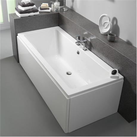 Pura bloque 1700 x 750mm double ended bath inc leg pack for Chatsworth bathroom faucet parts