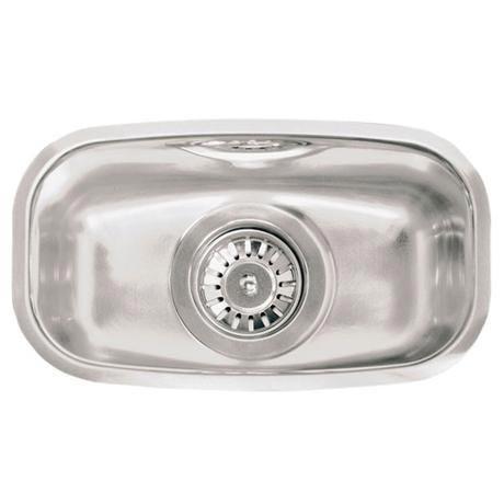 Reginox - Regi Fit 326 x 184mm Integrated Half Bowl Sink - Stainless Steel - RF300S