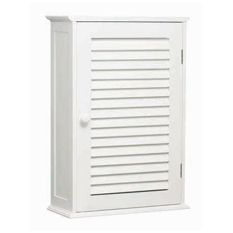White Wood Wall Cabinet with One Inner Shelf - 1600900 at ...