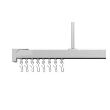 Croydex Slenderline Silver Shower Rail Kit - GP87000
