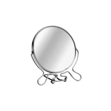 Small Chrome Shaving Mirror with Stand - 0509255