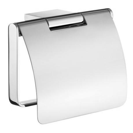 Smedbo Air - Polished Chrome Toilet Roll Holder with Lid - AK3414