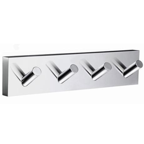 Smedbo House - Polished Chrome Quadruple Hook - RK359