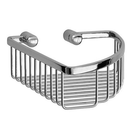 Smedbo Loft - Polished Chrome Corner Soap Basket - LK374