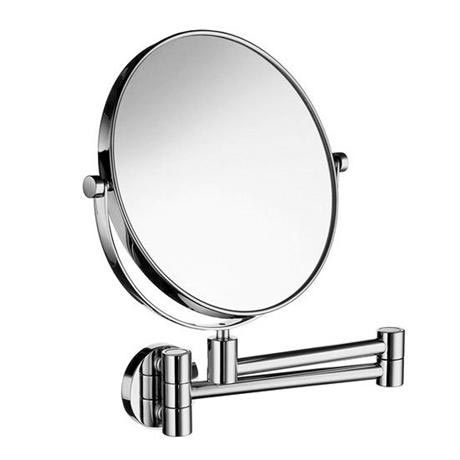 Smedbo Outline - Polished Chrome Shaving/Make Up Mirror on Swing Arm - FK438