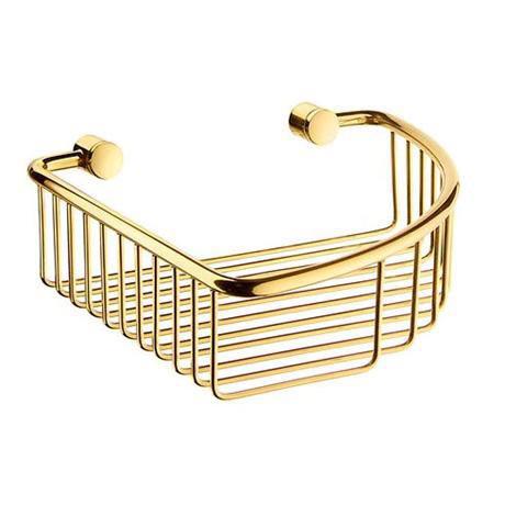 Smedbo Villa - Polished Brass Corner Soap Basket - V274
